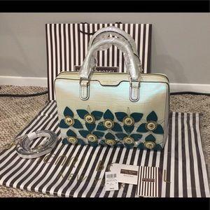 Henri Bendel W 57th Iridescent Floral Barrel Bag